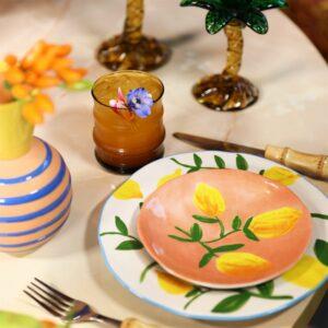 klevering-tallerken-plate-lemon-full-colour-set-of-4-multicolour-set-of-4-5578695